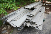Low Maintenance Plastic outdoor decking (recycled) - grey