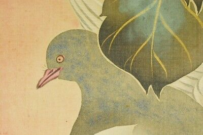 JAPANESE PAINTING PIGEON HANGING SCROLL 81.9