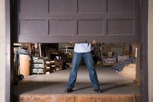 8' wood garage doors