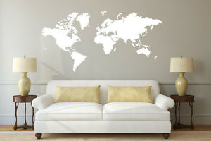 World Map Decal in White!