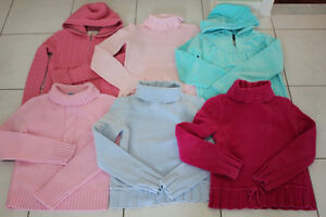 GIRLS SIZE 9 10 SWEATERS HOODIES * LIKE NEW * CLOTHING