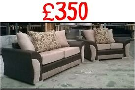 As good as brand new 3&2 brown &mink sofa