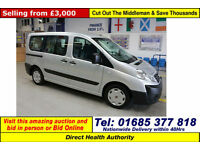 2010 FIAT SCUDO 1.6D 90PS MULTIJET 5 SEAT DISABLED ACCESS BUS (GUIDE PRICE)