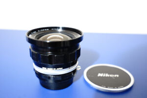 Nikkor UD 20mm f/3.5 lens with both caps in reduced price (used)