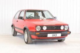 VW VOLKSWAGEN GOLF MK2 1.6 DRIVER 1989 RED 3DR PETROL SMALL BUMPER