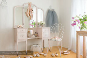 """Coiffeuse - ANTIQUE - Vanity """"Shabby Chic"""""""