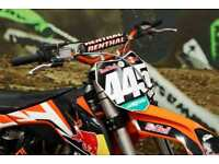 KTM SX 125 Motocross bike HGS exhaust system