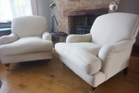 Laura Ashley pair of richmond armchairs natural colour
