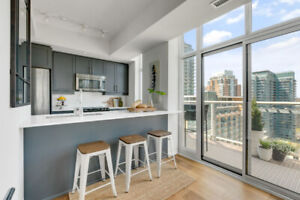 ...STUNNING 1100 SF CONDO IN LIBERTY VILLAGE... Must Be Seen...