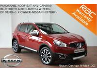 SEPT 12 Nissan Qashqai 1.5dCi 2WD N-TEC+ CAMERA-NAV-BLUETOOTH-S/H-PAN ROOF-