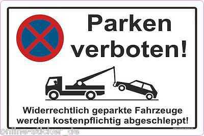 Parkverbot Aufkleber Parken Verboten HALTEVERBOT HINWEISSCHILD 2053