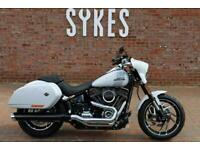NEW 2021 Harley-Davidson FLSB Softail Sport Glide in Stone Washed White
