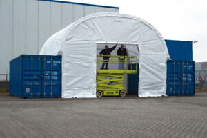 Heavy Duty 20x40 Dome Container Storage Shelter