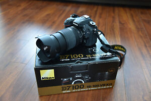 Nikon D7100 with 18-105mm lens and wireless adaptor