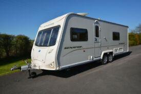 2009 Bailey Senator Wyoming 4 Berth Caravan with Fixed Bed