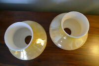 Pair (TWO) Wall Sconce Shades Vintage