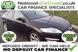 Ford Mondeo 2.0TDCI TITANIUM Good / Bad Credit Car Finance (black) 2010