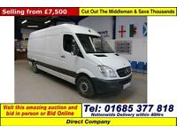 2013 - 13 - MERCEDES SPRINTER 313 2.2CDI LWB HIGH TOP VAN (GUIDE PRICE)