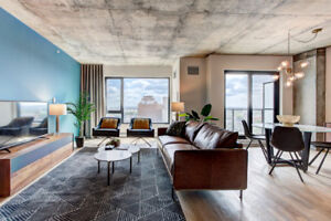STUNNING FULLY FURNISHED CONDO IN GRIFFINTOWN W/ PARKING – 3 ½