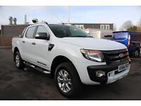 Ford Ranger 3.2TDCi 200PS 4x4 Wildtrak Double Cab in Frozen White + Tow Bar