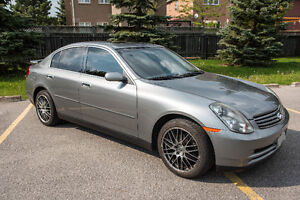 Fully Loaded 2004 Infiniti G35x Sedan with two sets of tire&rim