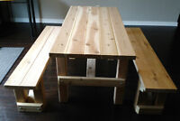 Cedar Harvest Table & Benches