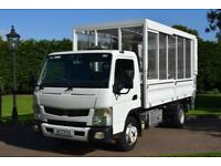 Mitsubishi Canter Fuso Caged tipper With tail lift