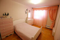 White & Pink bedroom set, double bed + free pink curtains