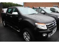Ford Ranger 2.2TDCi 150PS 4x4 Double Cab Limited in Black + A/C & Spare- Onsite