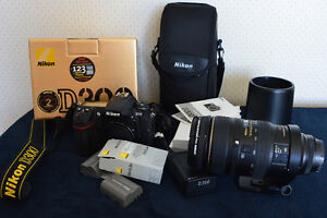 Nikon D300 et lentille zoom Nikon 80-400mm