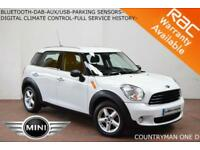2012 Mini Mini Countryman 1.6TD One D-BLUETOOTH-DAB-PARK SENSORS-FULL S/H