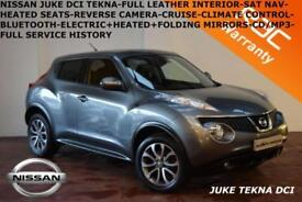 2013 Nissan Juke 1.5dCi (110ps) Tekna-LEATHER-NAV-REV. CAMERA-B.TOOTH-F.S.H.