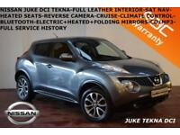 2013 Nissan Juke 1.5dCi (110ps) Tekna-LEATHER-NAV-REV. CAMERA-B.TOOTH-F.S.H.