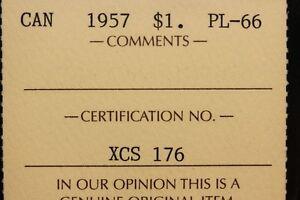 1957 Canadian Coins Mint Set - Graded ICCS PL-66 and MS-65 GEM Edmonton Edmonton Area image 7