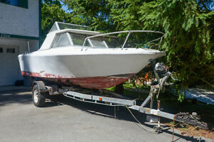 21' Boat with trailer
