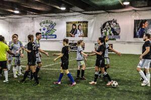 Winter coed indoor soccer