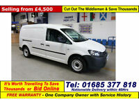 2013 - 63 - VOLKSWAGEN CADDY MAXI C20 STARTLINE 1.6TDI 102PS VAN (GUIDE PRICE)
