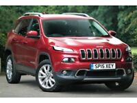 15 Jeep Cherokee 2.0CRD Auto Limited 1 OWNER FJSH Top Spec DIESEL PX Welcome