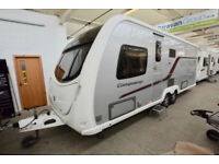 2012 Swift Conqueror 645 4 Berth Touring Caravan with Fixed Island Bed