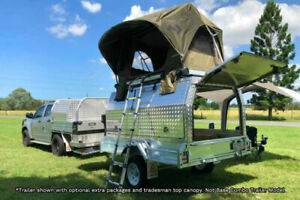 New Combo Camper Trailer Tradies Trailer with Roof Top Tent Molendinar Gold Coast City Preview