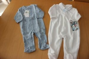 2 new baby boy sleepers one 3-6 months one 18 months - nice baby