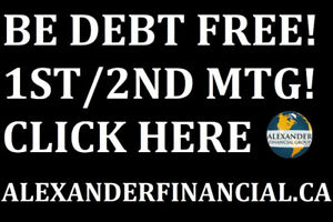 1st & 2nd MORTGAGES, DEBT CONSOLIDATIONS, ALEXANDERFINANCIAL.CA