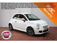 2013 Fiat 500 1.2 (69bhp) (s/s) S-BLUETOOTH-SPORTS SEATS-FULL SERVICE HISTORY-