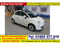 2013 - 13 - FIAT 500 LOUNGE 1.2 PETROL 3 DOOR HATCHBACK (GUIDE PRICE)