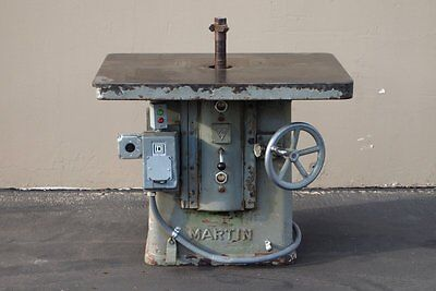 Martin 12 Single Spindle Shaper 7.5 Hp Woodworking Machinery