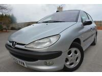 PEUGEOT 206 BLACK 1.6 5 DOOR*PANORAMIC ROOF*HALF LEATHER*ALLOYS*JUNE 2018 MOT*