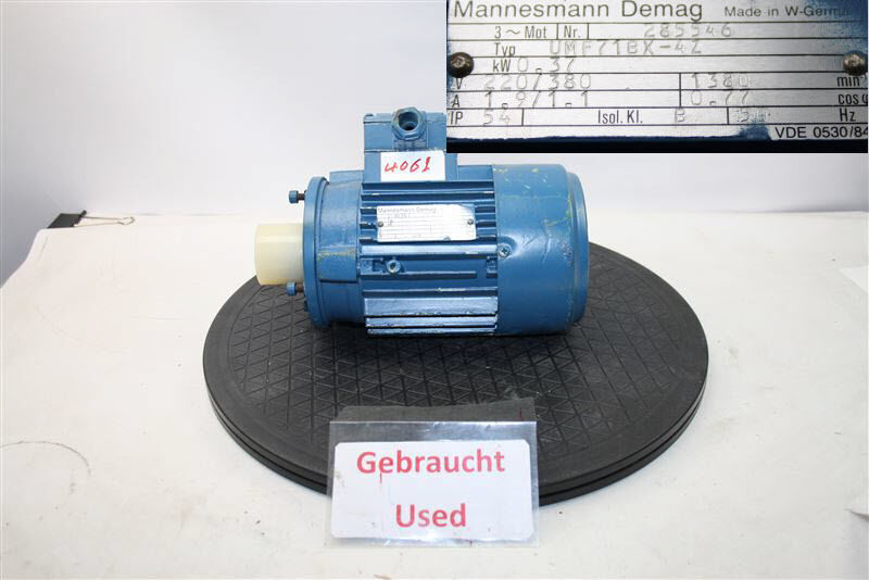 Mannesmann Demag 0,37 Kw 1380 Min Umf71bx-4z Electric Motor Three-Phase Motor