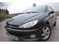 PEUGEOT 206 SPORT AUTOMATIC 1.6 5 DOOR*LOW MILEAGE*FULL 12 MONTHS MOT*42K MILES*
