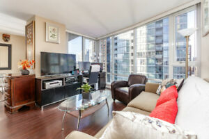 22nd Floor, 2-bedroom, 757 SF Condo at Yaletown for Sale