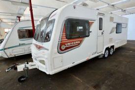 2013 Bailey Unicorn Barcelona 4 Berth Touring Caravan with Fixed Bed